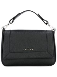 Orciani Flap Closure Tote Bag Black