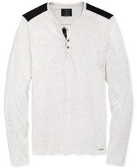 Guess Men's Floyd Henley Shirt True White Multi