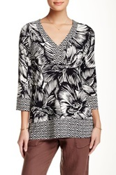 Tommy Bahama Flore Blooms Long Sleeve Tunic Black