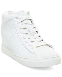 Madden Girl Madden Girl Superstud Lace Up Wedge High Top Sneakers Women's Shoes