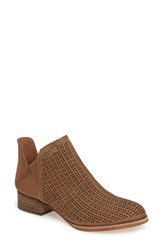 Vince Camuto Women's Celena Perforated Bootie English Taupe Nubuck Leather