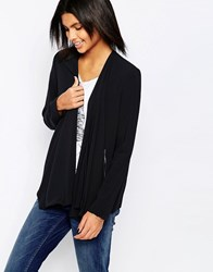 Pepe Jeans Dusti Crepe Blazer With Zip Pockets 999Black