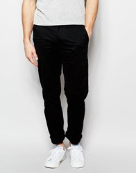 Farah Chino In Slim Fit Stretch Cotton Black