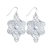 Lucy Ashton Jewellery Silver Filigree Earrings