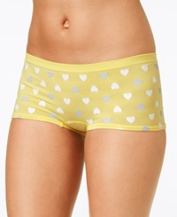 By Jennifer Moore Seamless Boyshort Only At Macy's Yellow Hearts