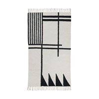 Ferm Living Kelim Black Lines Rug Small