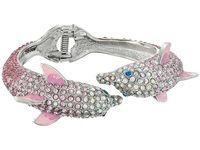 Betsey Johnson Ocean Drive Pink Crystal Dolphin Hinge Bracelet Pink Crystal Bracelet