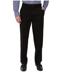 Dockers Signature Stretch Relaxed Flat Front Black Men's Casual Pants