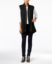 Styleandco. Style Co. Shawl Collar Sweater Vest Only At Macy's Deep Black