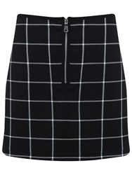 Miss Selfridge Checked Mini Skirt Black