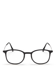 Ray Ban 'Rb7051 Light Ray' Titanium Temple Round Optical Glasses Black