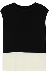 Raoul Marcelle Two Tone Knit Top