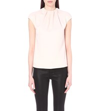 Ted Baker Leonee Ruched Neck Top Baby Pink