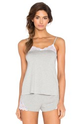 Only Hearts Club So Fine With Lace Flare Cami Gray