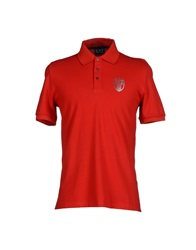 Emporio Armani Ea7 Polo Shirts Red
