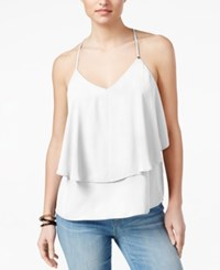 Guess Brit Ruffle Tank Top True White