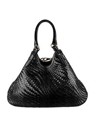 Cole Haan Genevieve Leather Triangle Tote Black