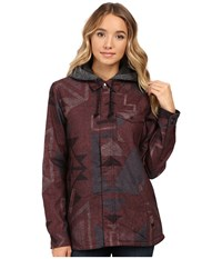 Burton Calla Long Sleeve Woven Canyon Print Women's Long Sleeve Button Up Brown