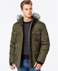 Point Zero Hooded Bomber Parka Military