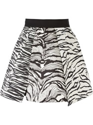 Fausto Puglisi Zebra Print Pleated Skirt Black