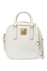 Marc By Marc Jacobs Stevie Textured Leather Shoulder Bag White