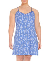Lord And Taylor Plus Printed Chemise Persian Jewel
