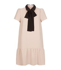 Red Valentino Collared Bow Dress Female Pink