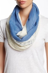 14Th And Union Paisley Lace Infinity Scarf Blue