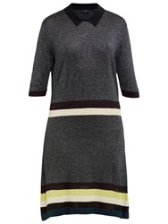 Ted Baker Colour By Numbers Bian Metallic Collared Dress Mid Grey