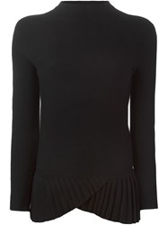 Emporio Armani Pleated Hem Sweater Black
