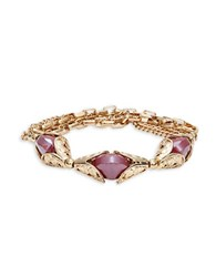 Design Lab Lord And Taylor Triple Chain Beaded Bracelet Red