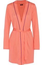 Cosabella Bella Cotton And Modal Blend Robe Orange