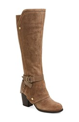 Women's Fergie 'Total' Tall Boot Taupe Leather