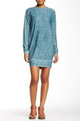 Go Couture Vintage Washed Sweatshirt Dress Multi