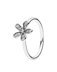 Pandora Design Pandora Ring Sterling Silver And Cubic Zirconia Dazzling Daisy