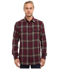 Matix Clothing Company Parker Flannel Ox Blood Men's Clothing Mahogany