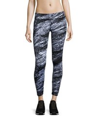 Marc New York Abstract Print Athletic Leggings Blk Sketch
