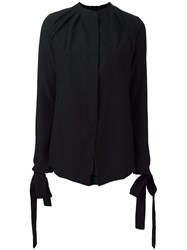 Masnada Concealed Fastening Shirt Black