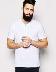 Only And Sons Pique Polo Shirt White