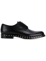 Valentino Garavani Micro Rockstud Derby Shoes Black