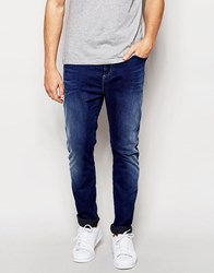 Replay Hyperfree Ma947 Slim Tapered Low Crotch Jeans Superstretch In Mid Blue Mid Blue