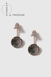 Topshop House Of Freedom Abalone Earrings Grey