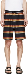 Paul Smith Navy Striped Trouser Shorts
