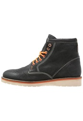 Superdry Stirling Laceup Boots Charcoal Anthracite