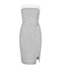 Roland Mouret Ambrose Metallic Strapless Dress Female Silver