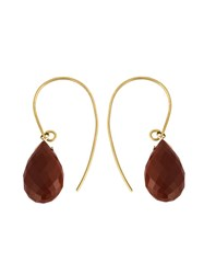 Uzerai Edits 18Kt Yellow Gold Bronze Agate Earrings Metallic