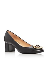 Tory Burch Hope Mid Heel Pumps Black Gold