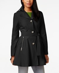 Inc International Concepts Skirted Trench Coat Only At Macy's Black