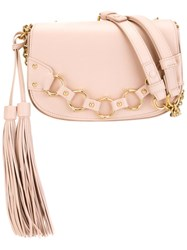 Roberto Cavalli Hanging Tassel Crossbody Bag Pink And Purple