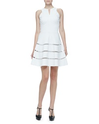 Robert Rodriguez Cutout Stripe Twill Dress